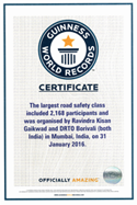 largest handball league for road safety awareness